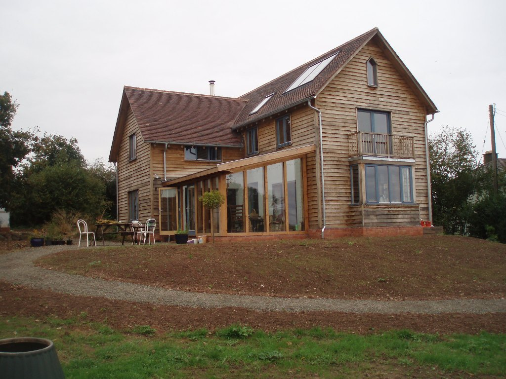 New energy efficient house Putley (not PH certifiable, pre PH in UK)